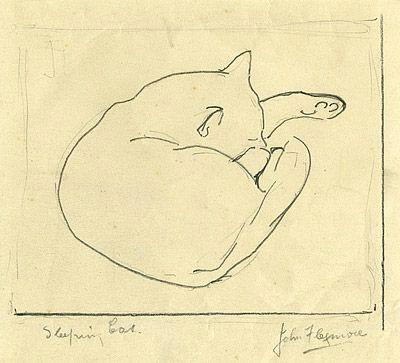 john flexmore sleeping cat ca 1940