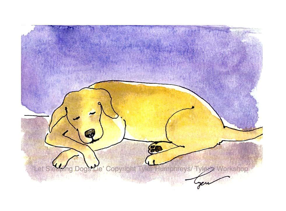 yellow labrador dog greeting card funny dog card dog art