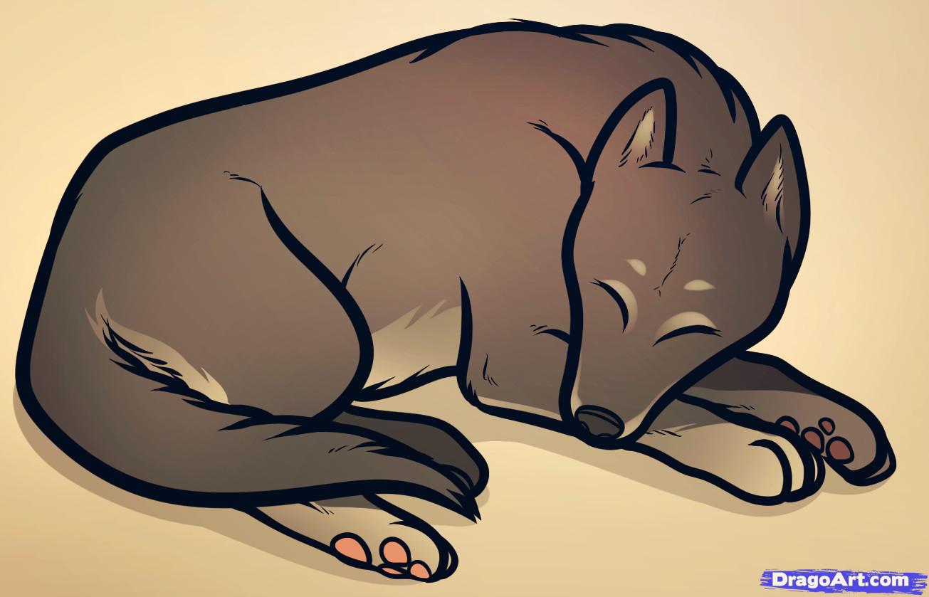 how to draw a sleeping dog sleeping dog step by step pets