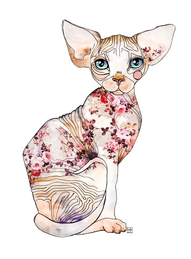 100 tumblr hairless cats chat sphynx sphinx tattoo anubis tattoo