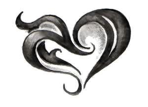 my tribal heart wing tattoo heart tattoos