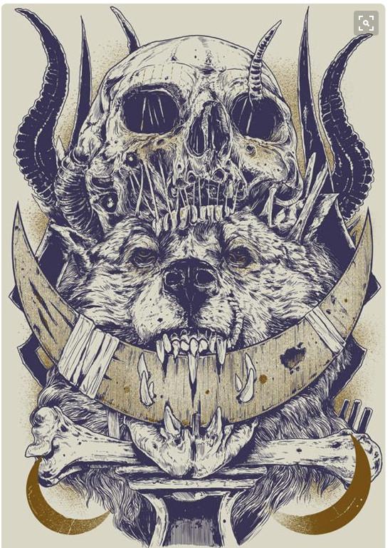 skulls on behance wolf tattoos arm tattoo ink art croquis arte digital