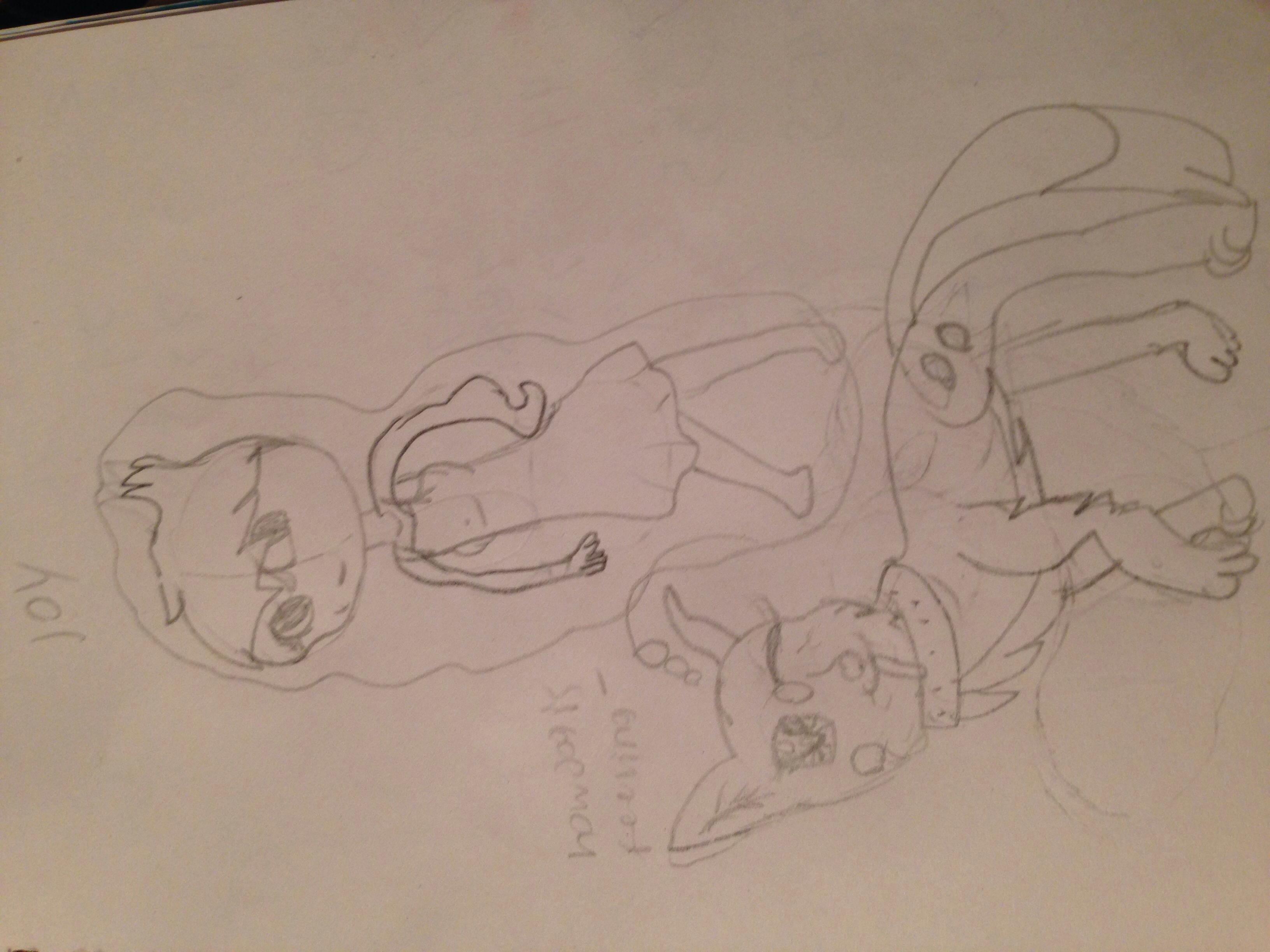 random drawing of how anime dog is feeling