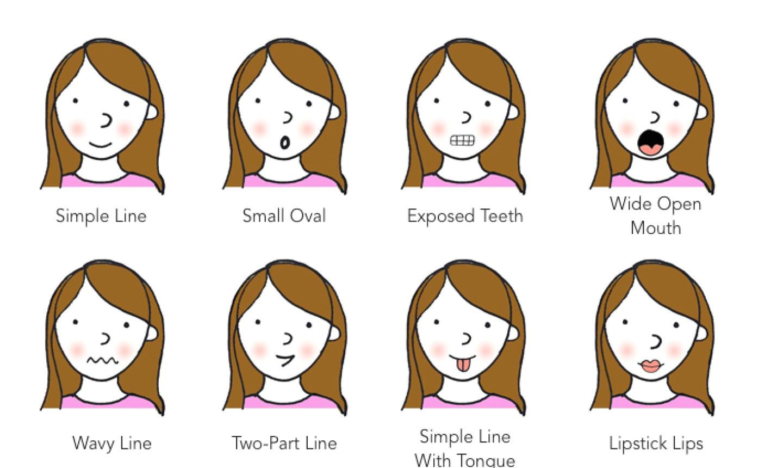 8 ways to draw cartoon mouths