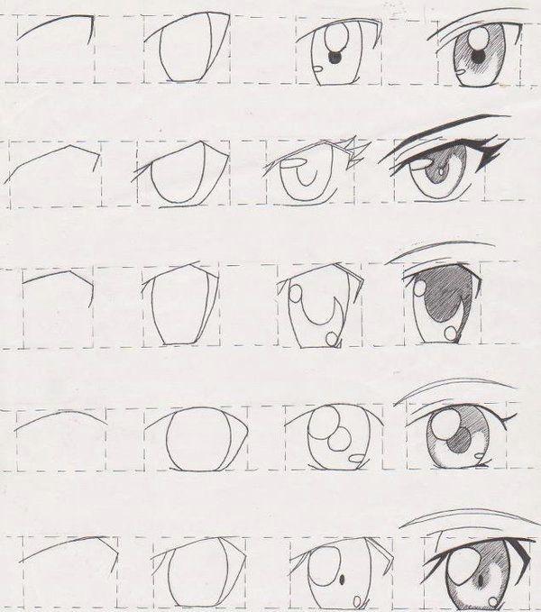 como desenhar manga tutorial olhos 01 tutoriais manga