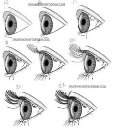 how to draw realistic eyes from the side profile view step by step drawing tutorial