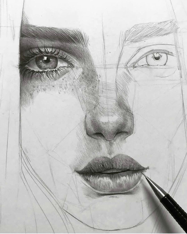 amazing art by maloart sketch eye pencil drawing portrait