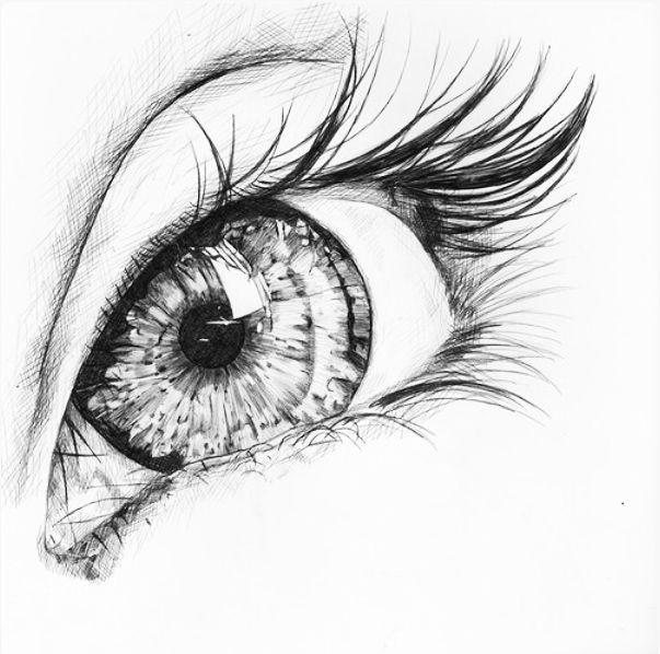 blue eyes drawing