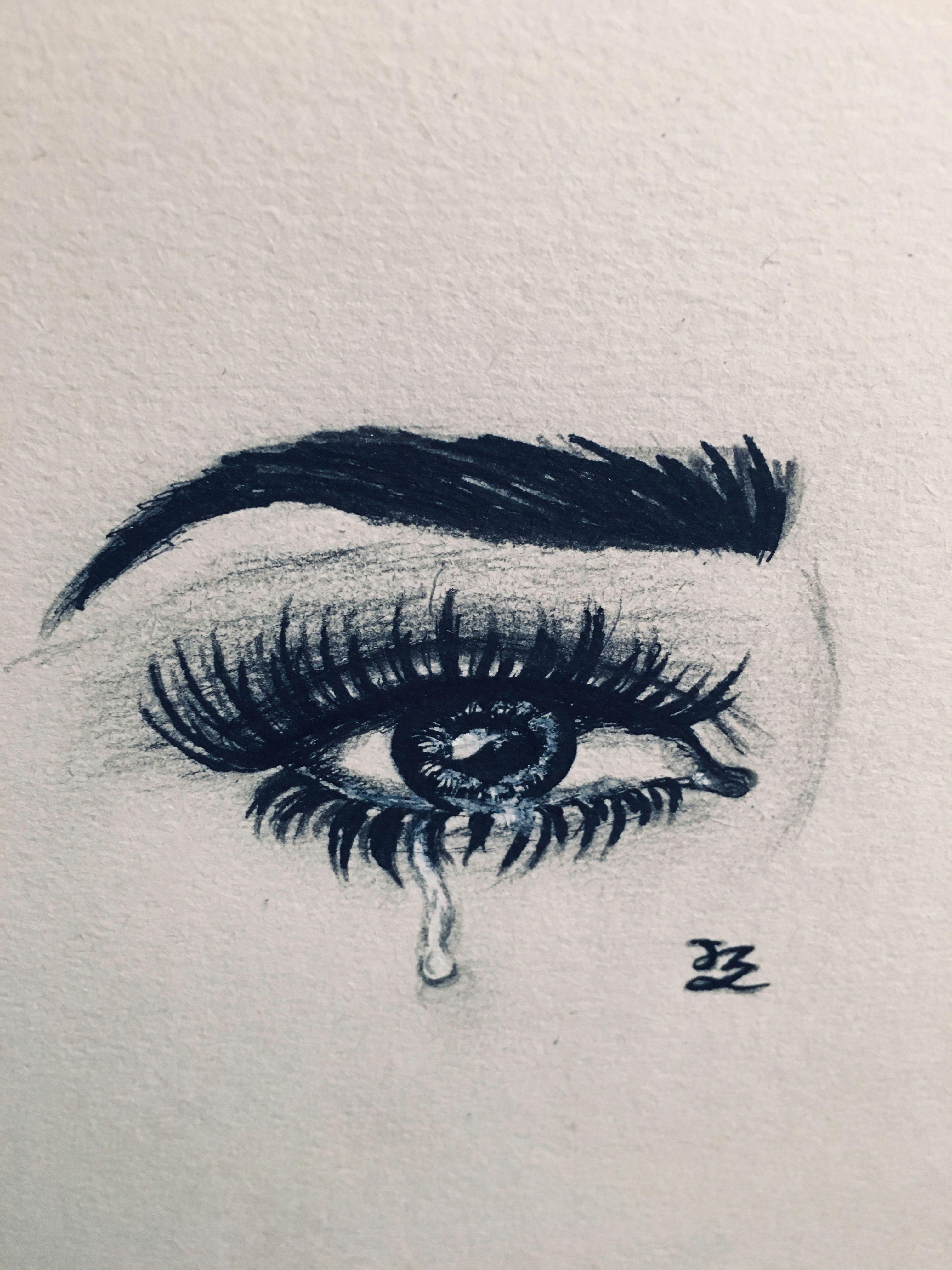jz drawing teared eye