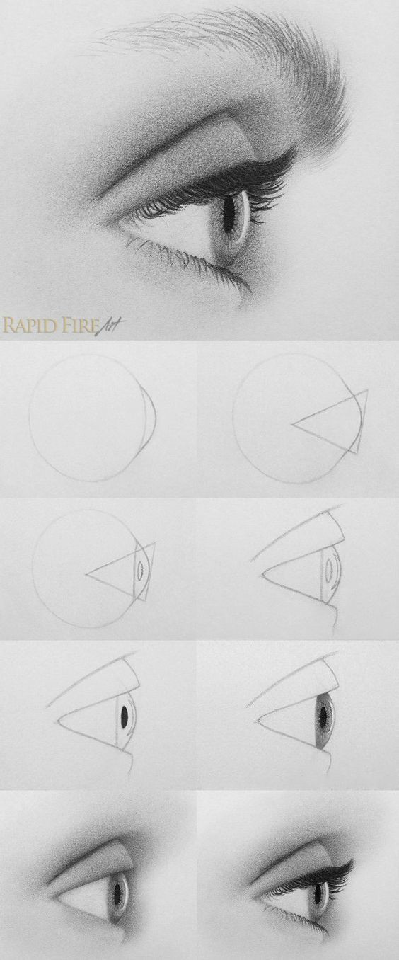 tutorial how to draw an eye from the side http rapidfireart com 2016 03 23 how to draw eyes from the side