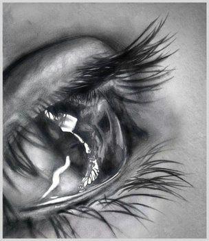 tears pencil drawing