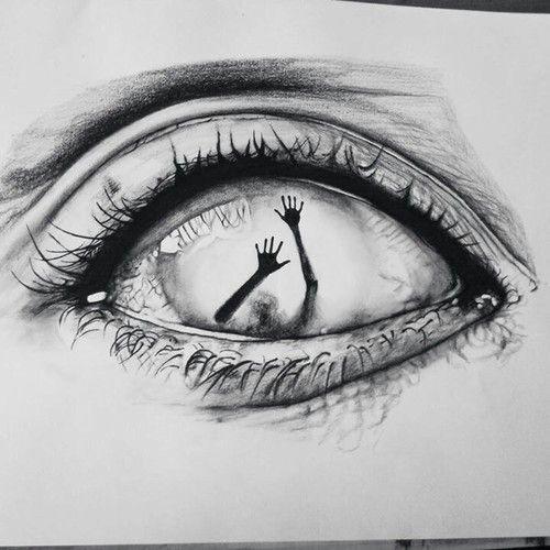 eye art and drawing image