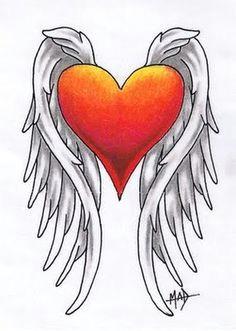 heart wings tattoo designs google search heart with wings tattoo heart wings winged