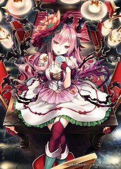 anime art a devil girl demon devil tail