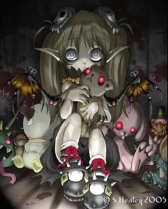 demon animals tags anime evil little girl demon stuffed animals