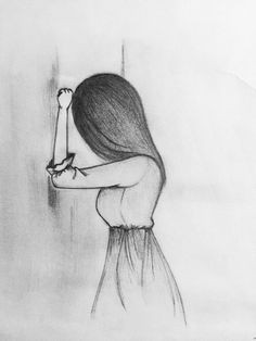 drawing the sad girl lippencilhowtouse my drawings art drawings easy figure drawings