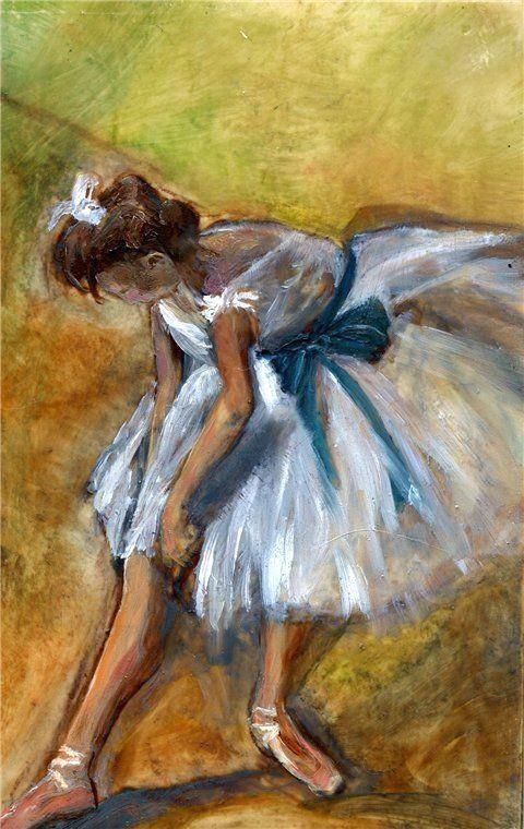 edgar degas ballerina reminds me of watching the girls before dance class started