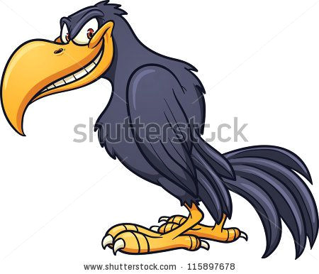 funny bird clip art evil cartoon crow vector clip art illustration with simple gradient