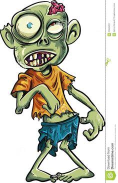 cartoon zombie with a big eyes stock image image 33583321 zombie drawings cartoon