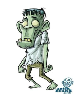 Drawing Of Cartoon Zombie 90 Best Zombie Cartoon Images Drawings Monster Illustration