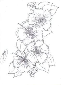four flowers tattoo google search hawaiian flower drawing hibiscus drawing hawaiin flower tattoo