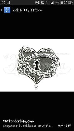 lock heart lock tattoo chain tattoo tattoo hearts badass tattoos body tattoos
