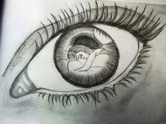 monisha drew it girly drawings pencil drawings art drawings eye art drawing