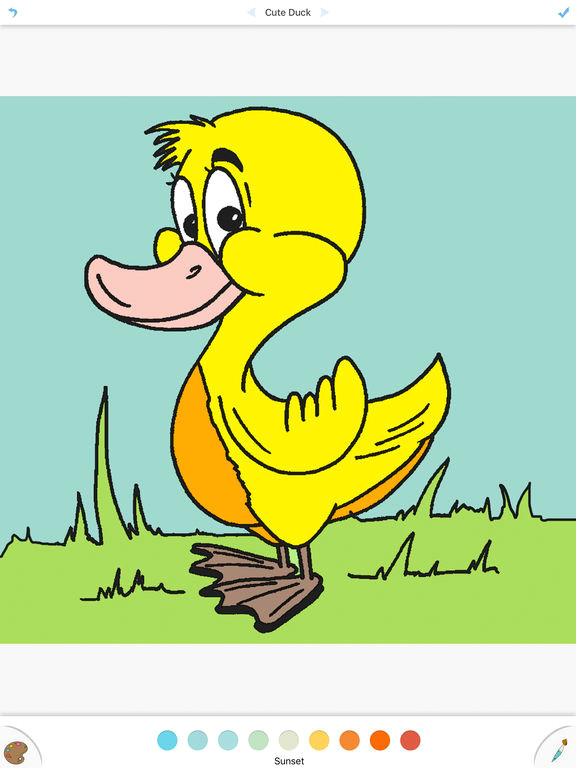 screenshot 1 for cute duck coloring drawing book for kids