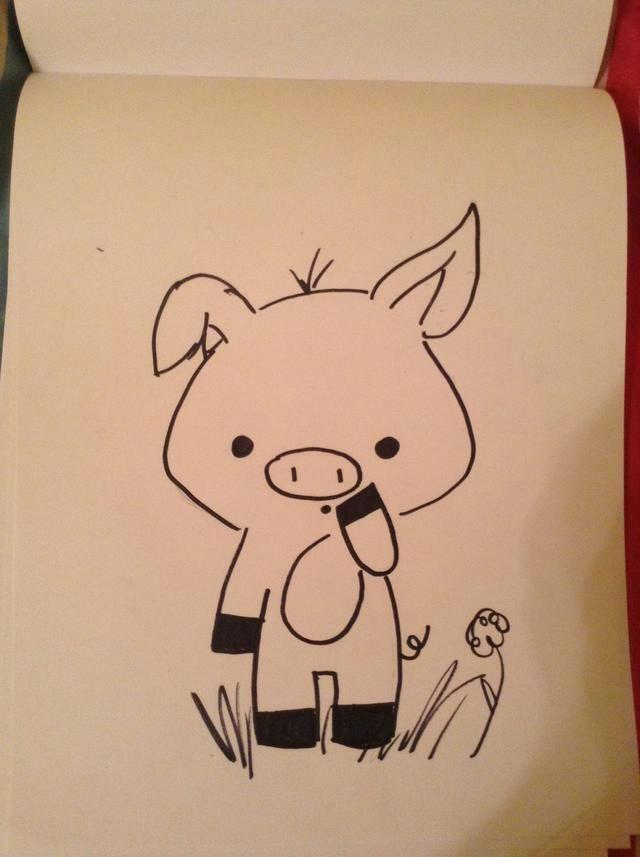 pig sketch drawing sketches pig drawing