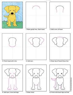 hund labrador welpen zeichnen artprojectforkids by kathy barbro dog drawing for kids kids