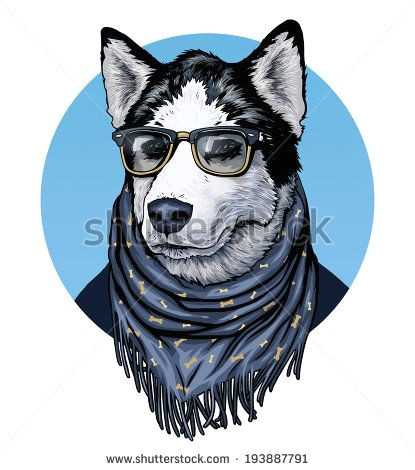 silly dogs drawing wearing glasses google search