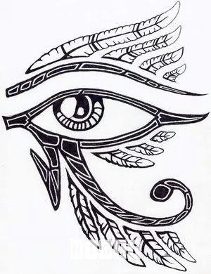 egyptian horus eye tattoo design idea