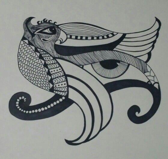 eye of horus by lilang eye illustration zentangle drawings zentangles eye of horus