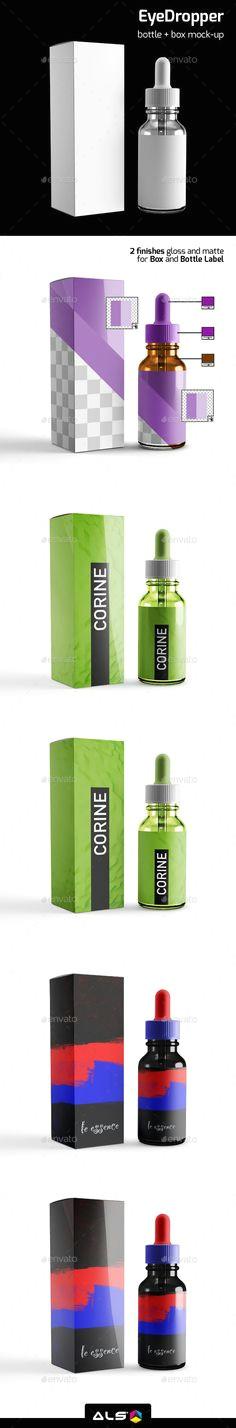 eye dropper bottle mock up design mockup download http