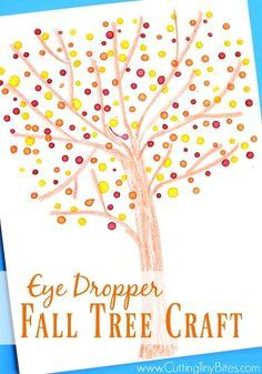 eye dropper fall tree craft