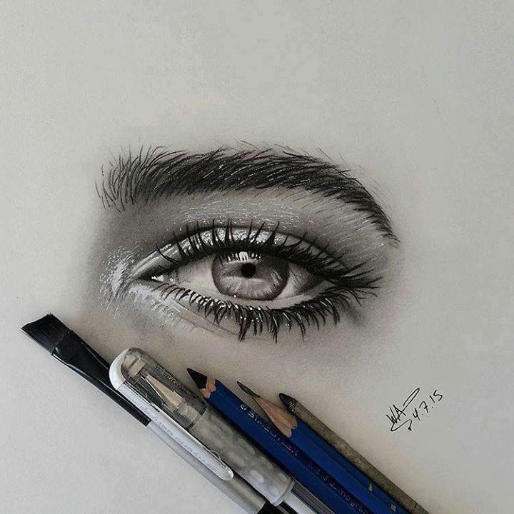 realistic eyes drawing by waleedart http webneel com 40 beautiful