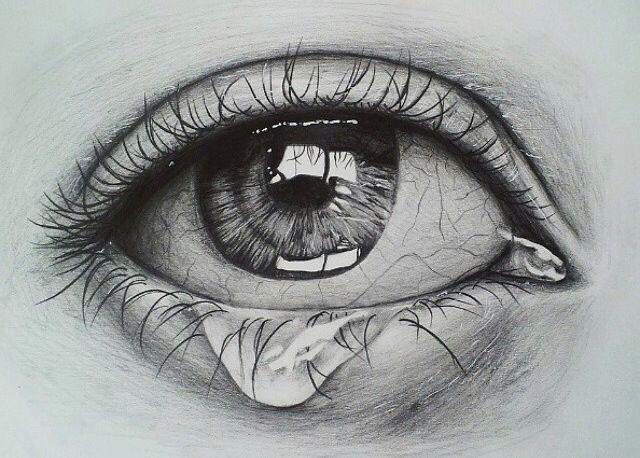crying eye sketch