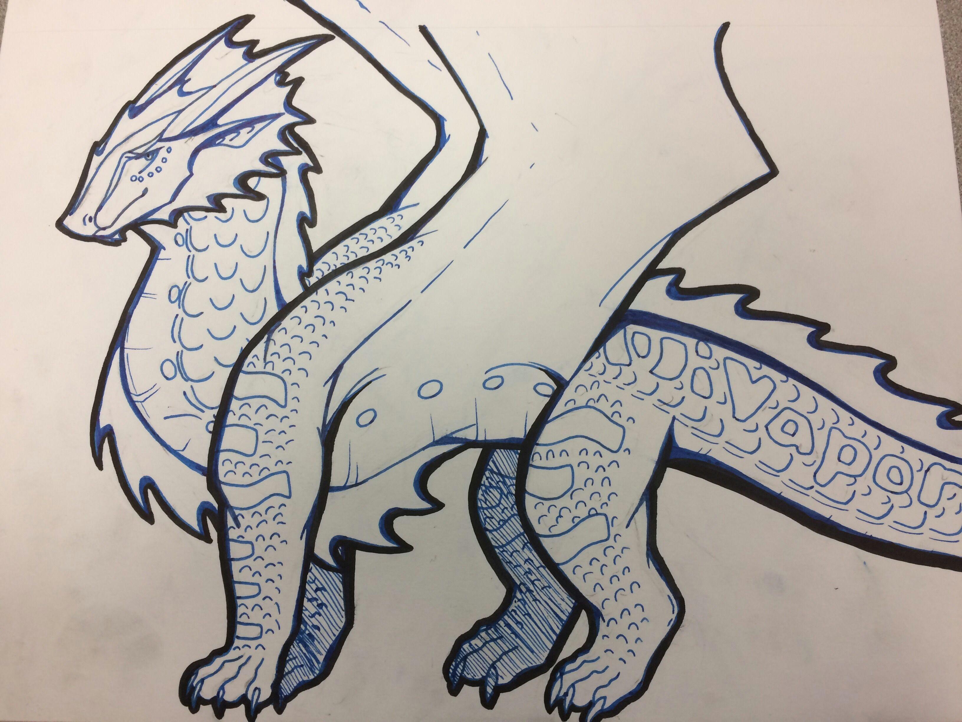 wings of fire fabelwesen coole kunst beast wolf drachen