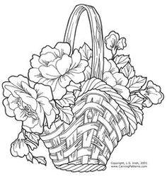 wicker baskets and floral arrangements pattern package download parchment design parchment craft hand
