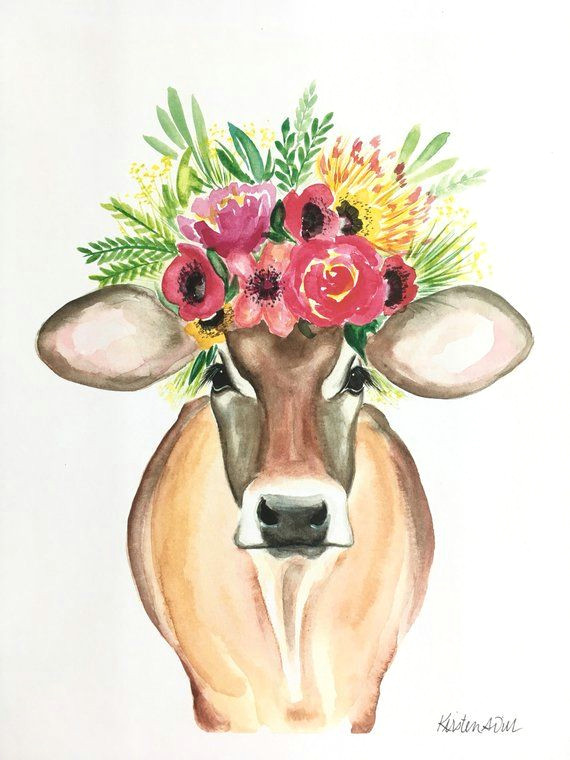 miranda the cow print floral cow floral crown cow