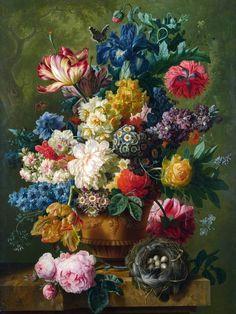 flowers paintings watercolor 1872 by unknown painter flower diy flower vases flower