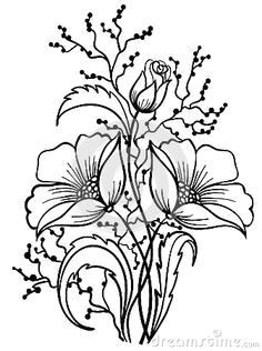 cvea e fabric painting line drawings of flowers outline drawings drawing flowers art