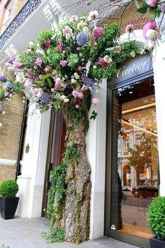 fabulous faux tree ikebana flower shops flower shop decor flower shop design
