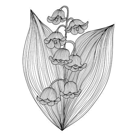 elegant decorative lily od the valley flowers design element floral branch floral decoration