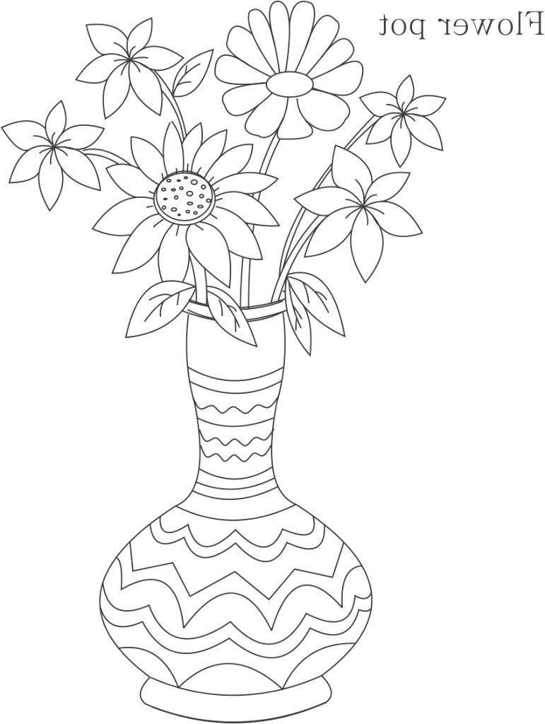 awesome coloring flower elegant vases sketch flower vase i 0d flowers of awesome coloring flower elegant