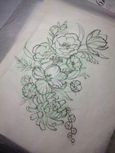 flower tattoo drawing tumblr google search
