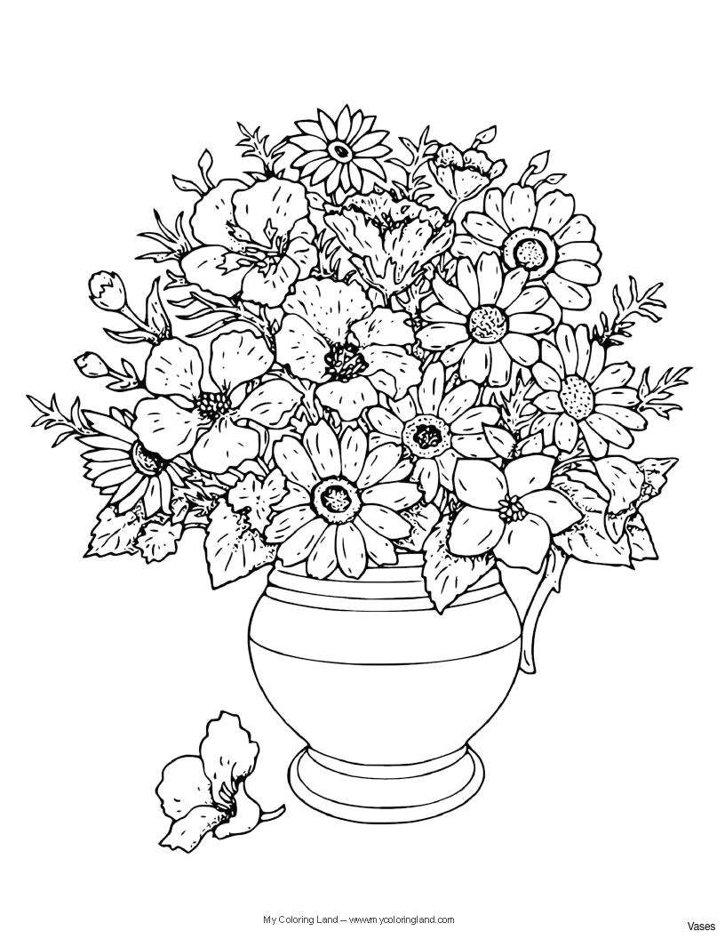 therapeutic coloring pages flower coloring pages vase with rosesh vases flowers in cool vases flower