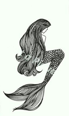 mermaid black and white siren tattoo tattoo mermaid mermaid art vintage mermaid tattoo