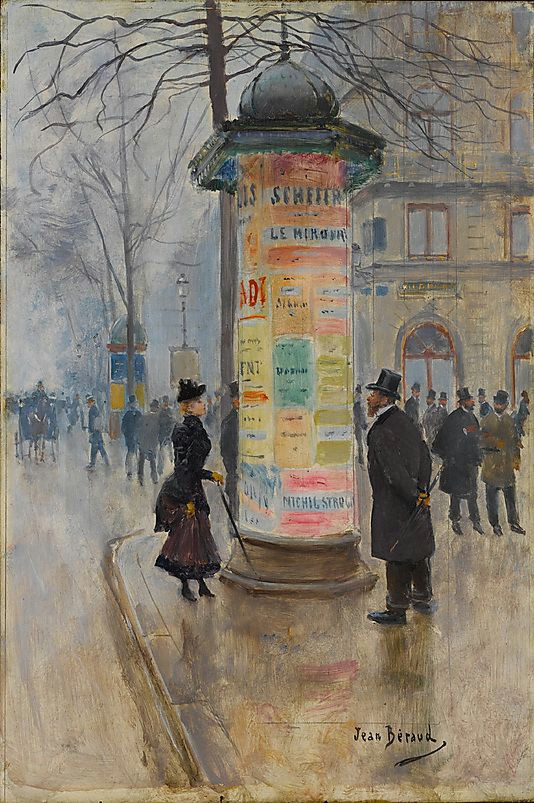 jean beraud french 1849 1936 parisian street scene ca 1885 the metropolitan museum of art new york robert lehman collection 1975 1975 1 243
