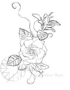 gardenia tattoo by smaragdia deviantart com on deviantart gardenia tattoo dope tattoos